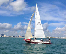 J/105 Loki sailing off start in Ft Lauderdale, FL