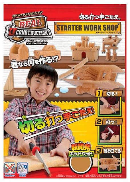Bộ đồ chơi thợ mộc cơ bản Real Construction Starter Workshop dành cho trẻ trên