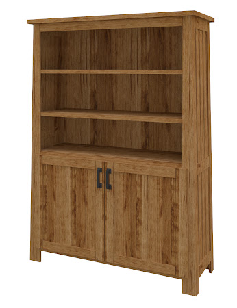 Teton Wooden Door Bookshelf in Lamar Maple