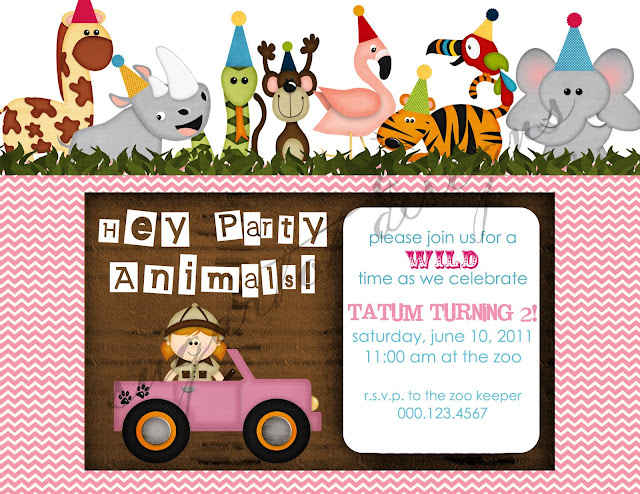 Sugartotdesigns wild animals birthday party invitation wild animals birthday party invitation stopboris Choice Image