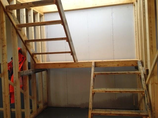 Bygging av innvendig trapp