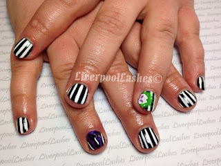 liverpoollashes nail art artist beetlejuice nails liverpool nail tech