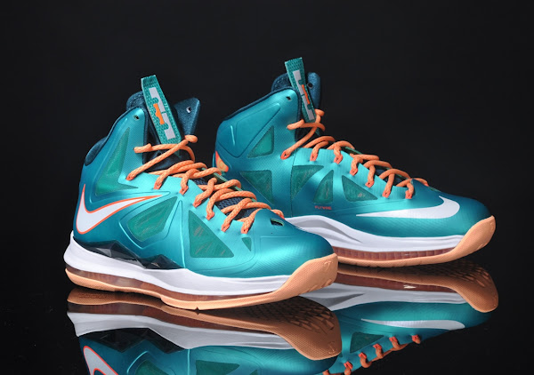Detailed Look at LeBron X Sunset  Setting  Dolphins