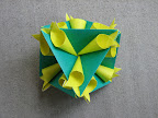"Twirl Octahedron from Meenakshi Mukerji's ""Marvelous Modular Origami""."