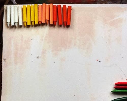 diy - como fazer quadro decorativo com giz de cera