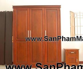 Tủ quần áo gỗ tự nhiên xoan đào