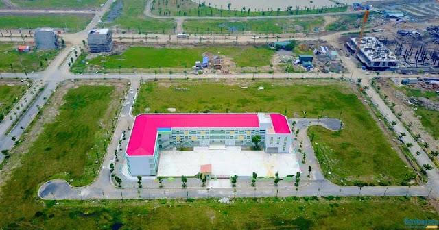 Trường mầm non chung cư Thanh Hà nhìn từ Fly Cam