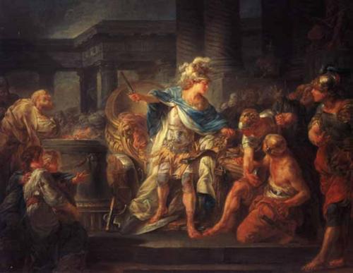 Alessandro taglia il nodo gordiano