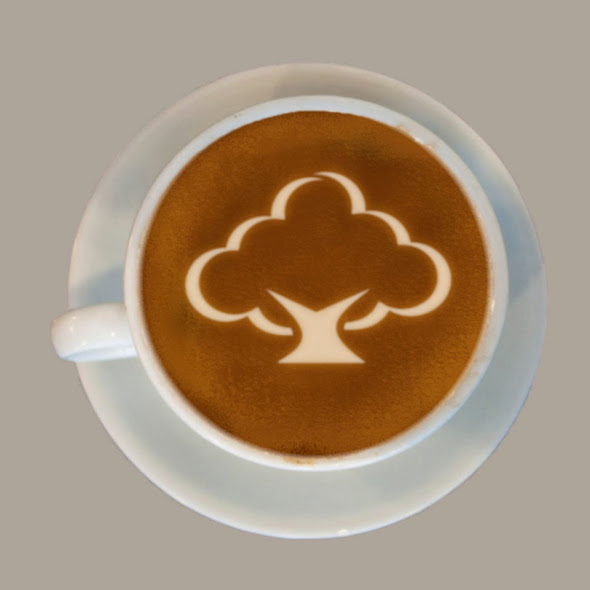 Latte Art Logo Mockup