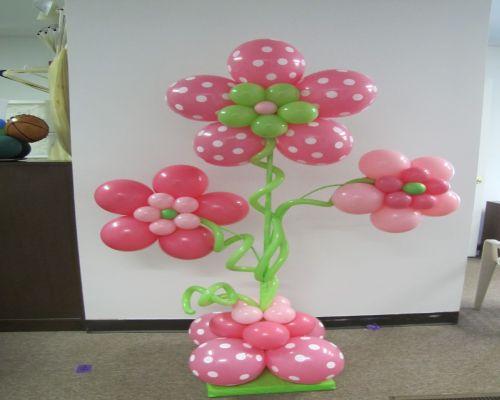 decoracion con globos para fiestas de bebes