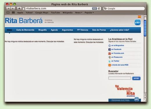 Web Rita Barberá (valencià)