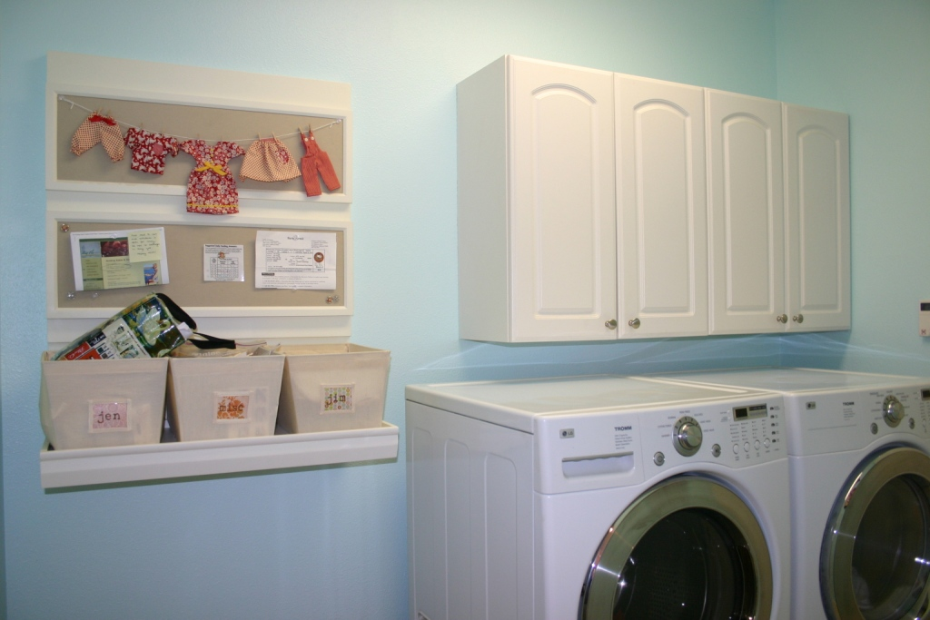 Jen uinely inspired laundry room redo for Pottery barn laundry room