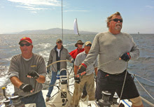 J/111 Jato crew on Santa Barbara to King Harbor Race