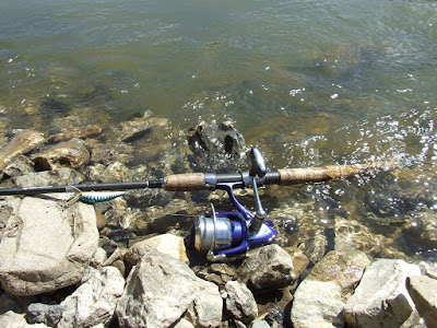 My rod and reel for mountain rivers