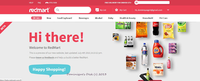 Redmart's website