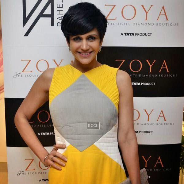 Mandira Bedi is all smiles during a high tea hosted by Nisha Jamwal and Veda Raheja for at Zoya on July 24, 2014.(Pic: Viral Bhayani)