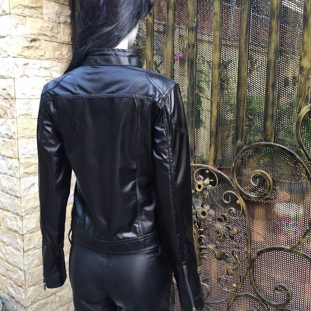 áo khoác da nữ hàng hiệu