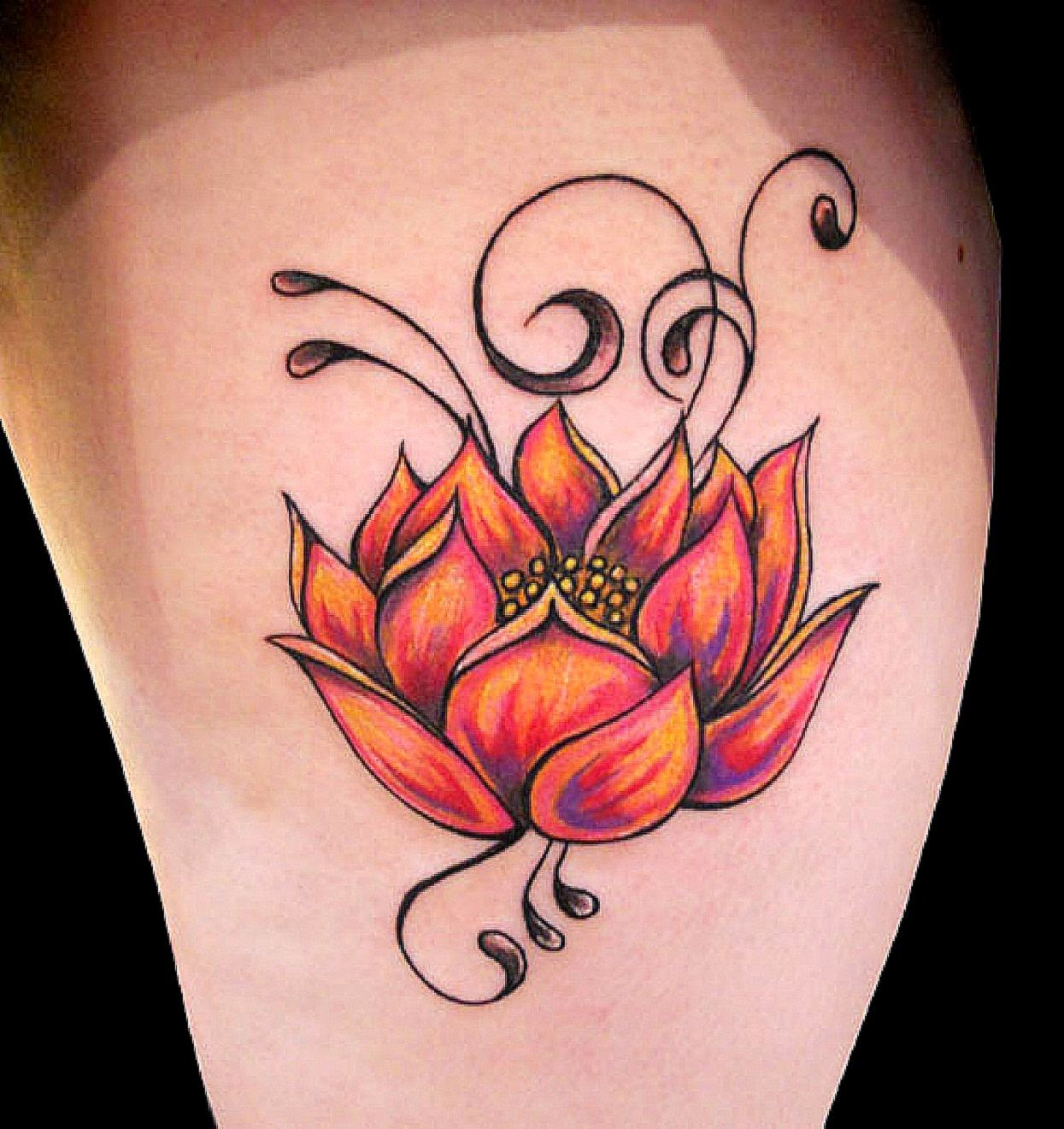 lotus flower tattoo free tattoo pictures. Black Bedroom Furniture Sets. Home Design Ideas