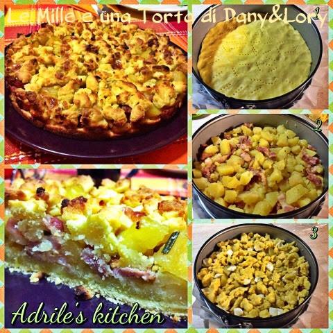 sbriciolona salata con patate e pancetta