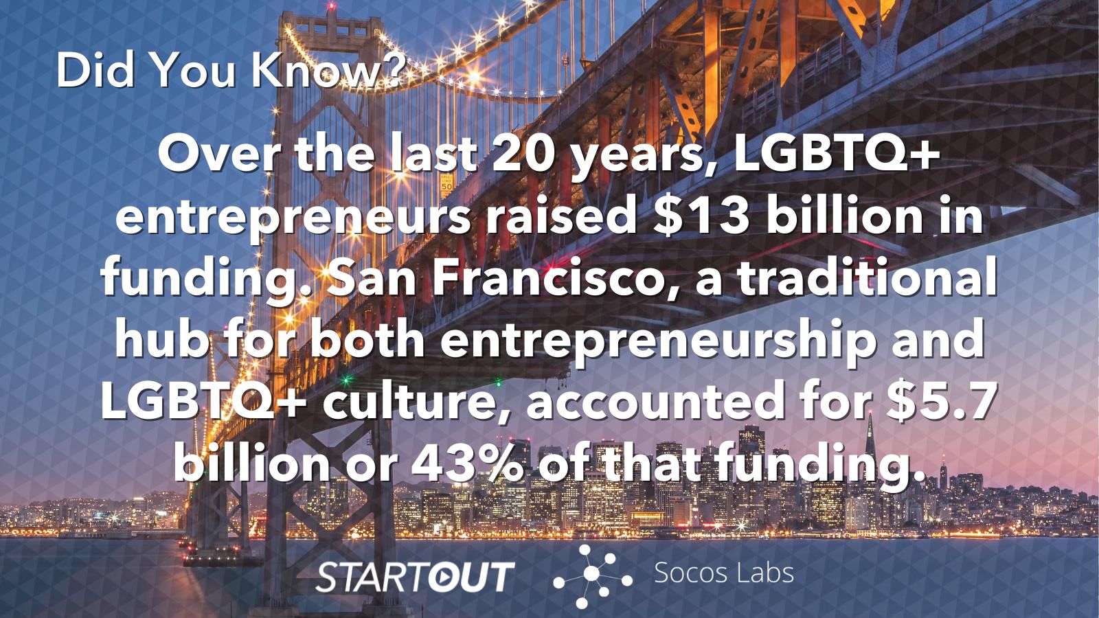 Startout LGBTQ+ entrepreneurs fact sheet