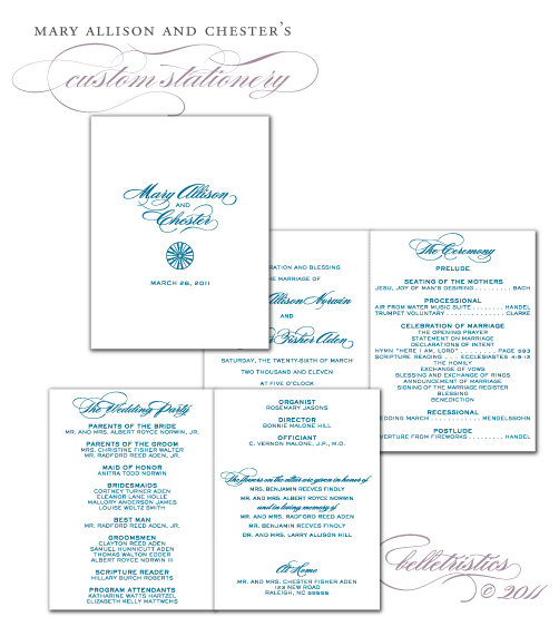 custom accordion style ceremony program design printable pdf