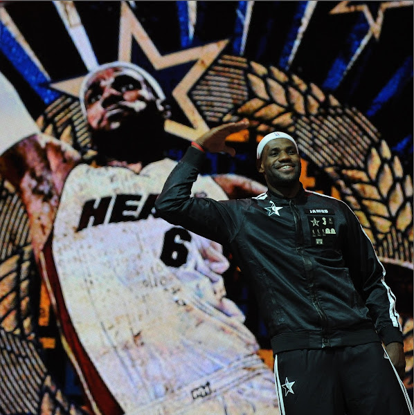 LeBron James #6 of the Eastern Conference All-Stars is introduced during the 2013 NBA All-Star Game presented by Kia on February 17, 2013 at the Toyota Center in Houston, Texas.