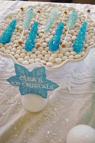 Frozen birthday party, Elsa's ice crystals