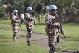 Bunagana, Nord Kivu, le 16 mai 2012, les forces spéciales jordaniennes sécurisent le périmètre de déploiement après les affrontements armés entre FARDC et les mutins qui occasionné la fuite de la population en Ouganda voisin malgré le déploiement des casques bleus- Ph. Sylvain Liechtin