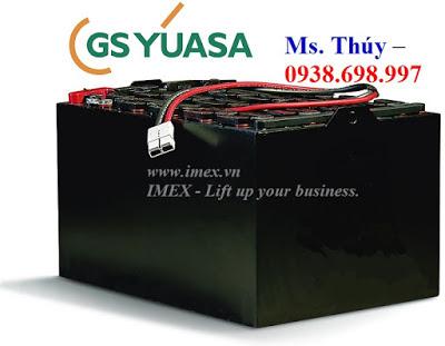 Bình điện xe nâng hàng GS Yuasa Thailand
