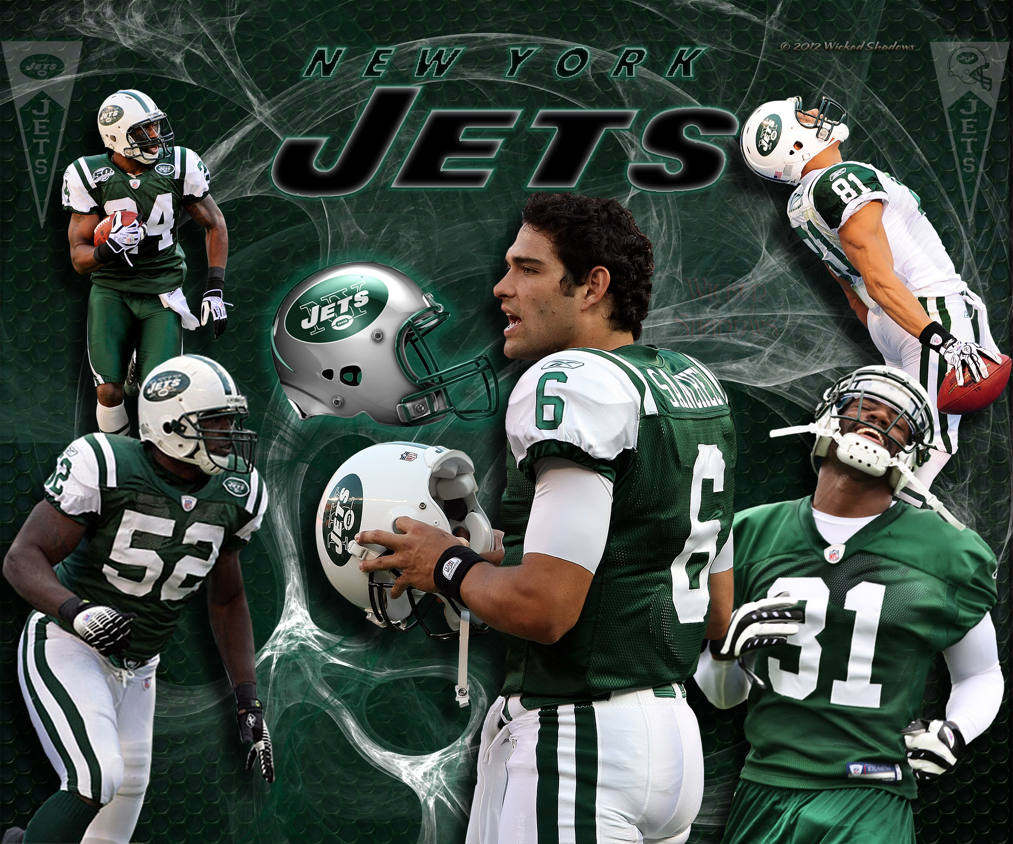 Wallpapers By Wicked Shadows New York Jets Team Wallpaper