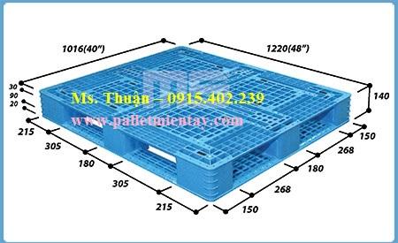 Pallet nhựa Malaysia nhập khẩu N4-4840LA