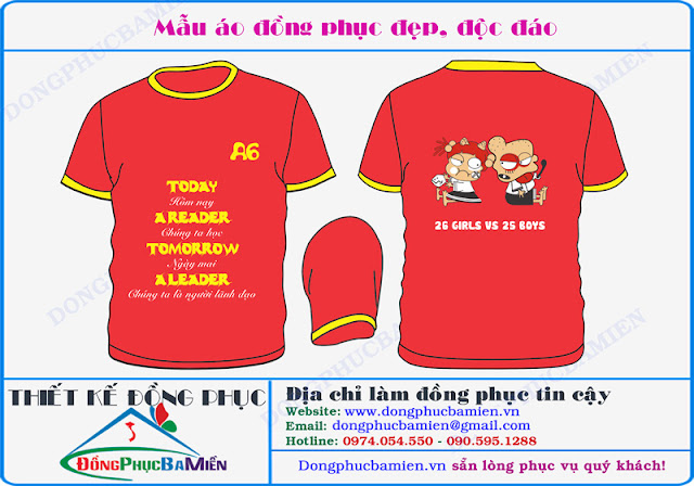 Dong phuc hoc sinh lop 12A6 truong THPT Vo Thi Sau