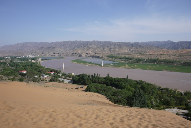 Yellow River at Shapotou in Ningxia