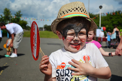 13-07-2013 - By Scott Campbell (+44) 0774 296 870 - Cumbernauld Gala Day, 2013, at Cumbernauld New Town Hall; Child with face painted.