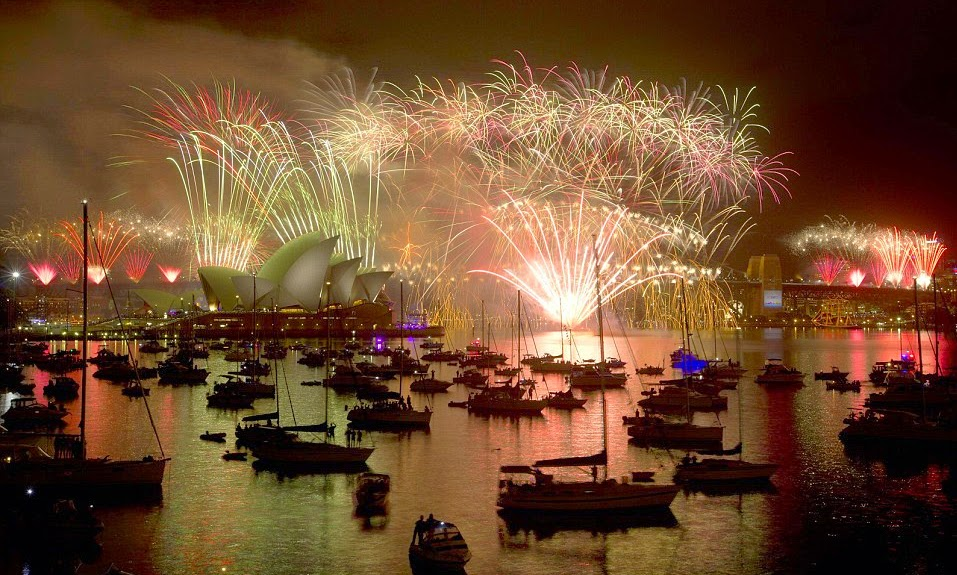 world welcomed 2015 with spectacular fireworks new years eve video