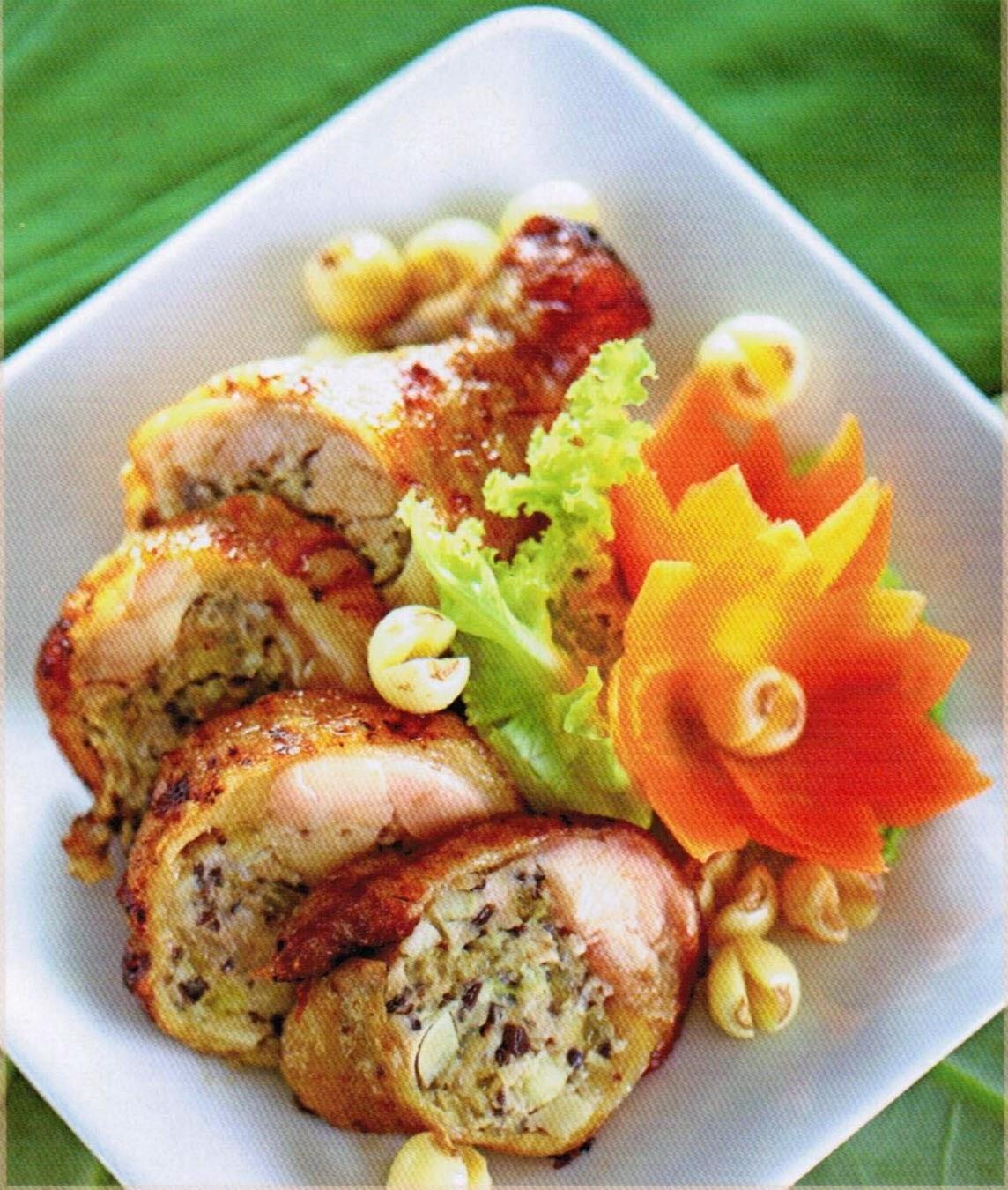 Image result for gà rút xương nhồi jambon rau củ