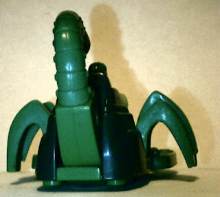 Back of the Scorpion Stingstriker from McDonald's in 1995