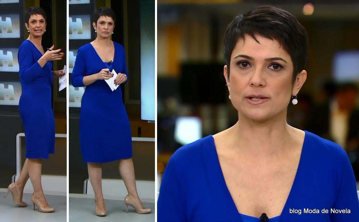 moda do programa Jornal Hoje - look da Sandra Annenberg dia 19 de maio