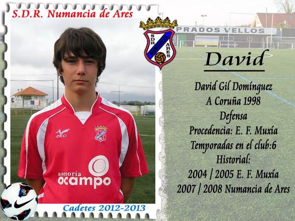 David Gil, xogador cadete do Numancia de Ares.