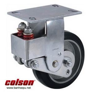 Bánh xe cao su lò xo giảm xóc Colson 200 chịu tải 400kg | SB-8508-648