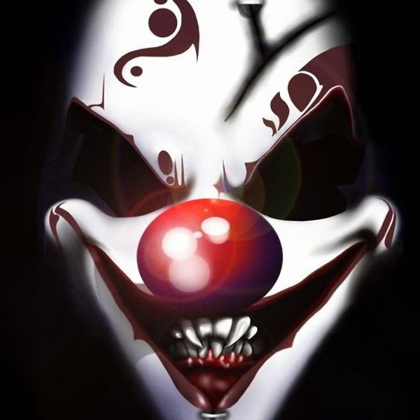 Evil clown face paint ideas