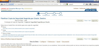 Copia de seguridad con RMAN offline si la base de datos no está en modo ARCHIVELOG