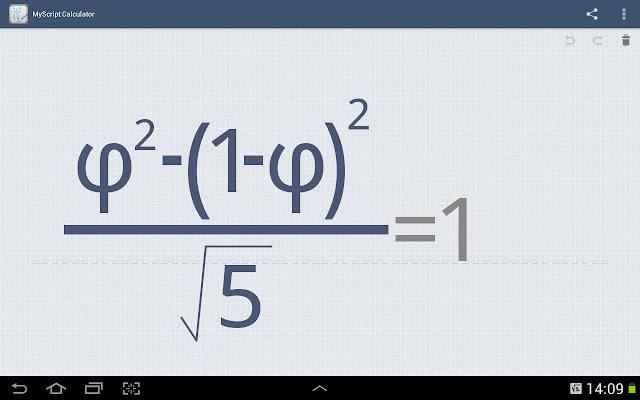 #MyScript©計算機:以手寫方式來解數學方程式 (Android App) 5