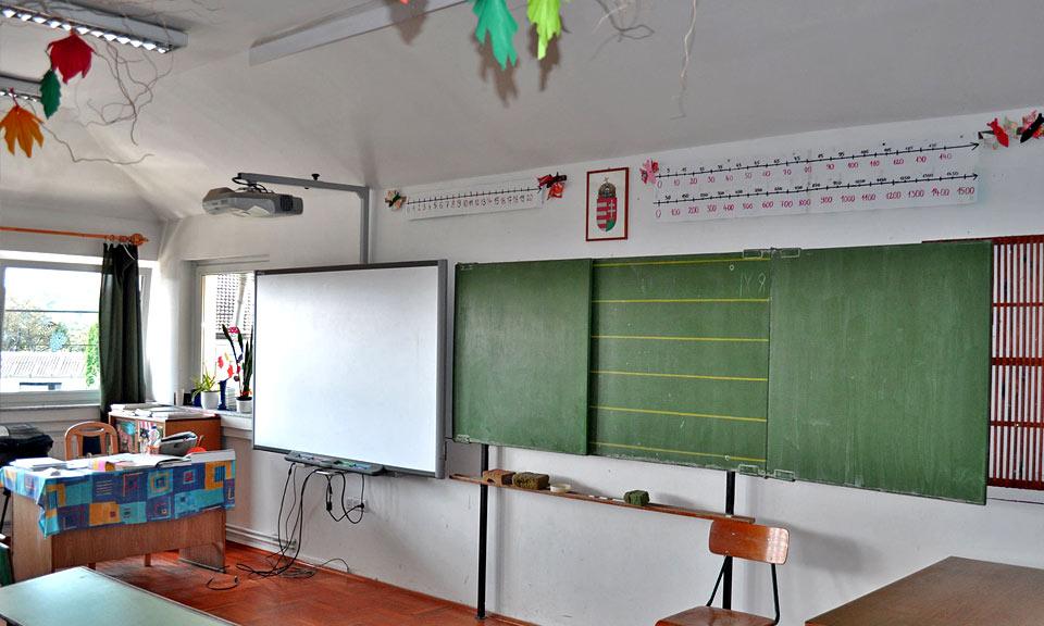 Bárdudvarnok iskola tanterem