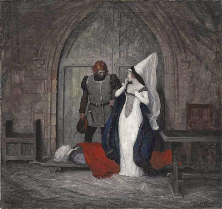 N. C. Wyeth - At Daybreak, Mistress, in Execution of the Sentence Passed Upon Him Yesterday in the Governor's Court