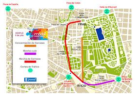 Cortes de tráfico por el desfile del Orgullo 2013