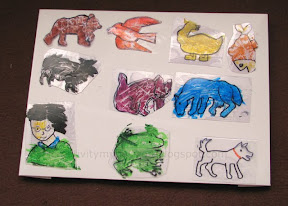 Brown Bear Brown Bear what do you see by tracing the pictures with clear plastic sheet