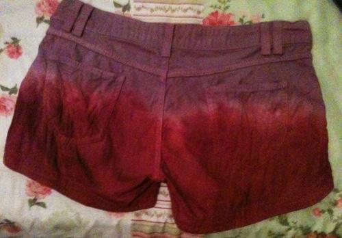 Short dip dye com spikes