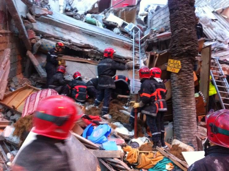 فاجعة وطنية: انهيار ثلاث عمارات اَهلة بالسكان بعد السحور بقليل وقتلى وجرحي كثر