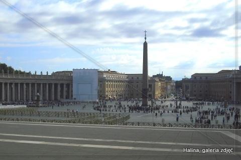 Watykan, plac św. Piotra.